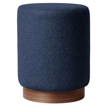 Swoon - Soft Wool Penfold Footstool, Midnight (H48 x W37 x D37cm)
