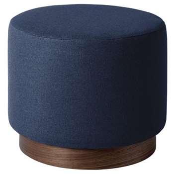 Swoon - Soft Wool Penfold Ottoman, Midnight (H39 x W48 x D48cm)