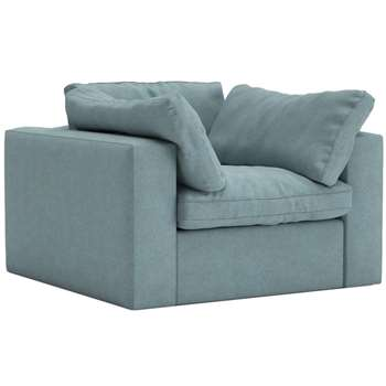 Swoon - Soft Wool Seattle Armchair, Sky Blue (H74 x W106 x D107cm)