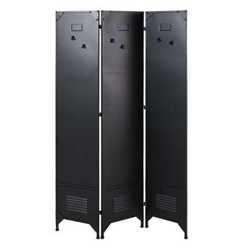 SYDNEY Black Metal Screen with 6 Magnets (175 x 115.5cm)