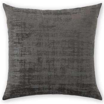 Tabitha Set of 2 Velvet Cushions, Charcoal Grey (H45 x W45cm)
