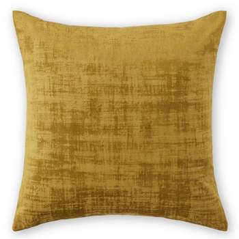Tabitha Set of 2 Velvet Cushions, Dark Saffron Yellow (H45 x W45cm)