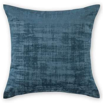Tabitha Set of 2 Velvet Cushions, Midnight Blue (H45 x W45cm)