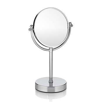 Table Bathroom Mirror, Chrome 24.5 x 15.5cm