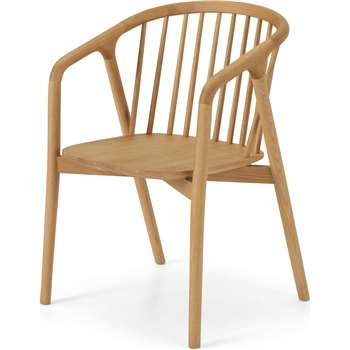 Tacoma Dining Chair, Oak (H80 x W54 x D55cm)