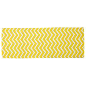 TALAIA deckchair canvas with yellow and white herringbone motifs (45 x 124cm)