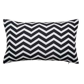 TALAIA white/black outdoor cushion (30 x 50cm)