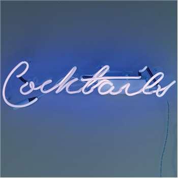 Talking Tables - Blue 'Cocktails' Neon Light (H23 x W50.5 x D9cm)