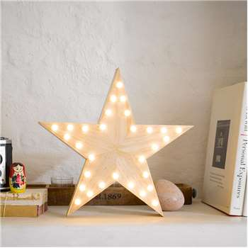 Talking Tables - LED Wooden Star Light (H30 x W30cm)
