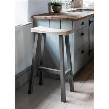 Tall Clockhouse Stool in Charcoal (75 x 45cm)