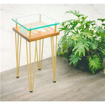 Cappa E Spada - Tall slim bird feather Side Table (H60 x W30 x D30cm)