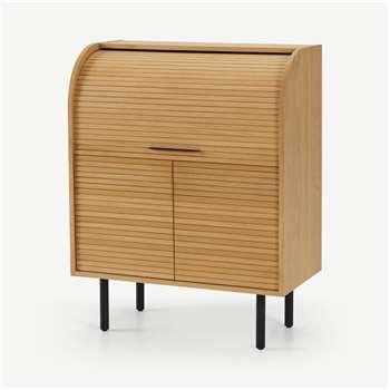Tambo Bureau Desk, Oak (H109 x W85 x D45cm)