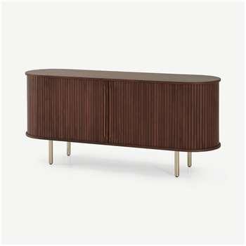 Tambo Sideboard, Walnut & Brass (H73 x W160 x D45cm)
