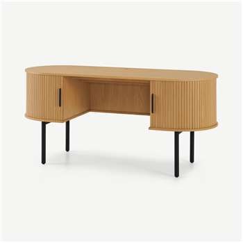 Tambo Wide Desk, Oak (H76 x W160 x D60cm)