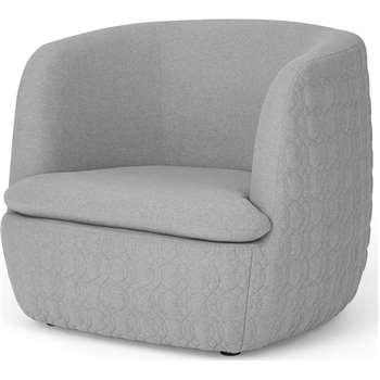 Tandy Accent Armchair, Cool Grey (H74 x W91 x D84cm)