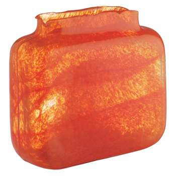 Tangelo Orange bubble glass vase