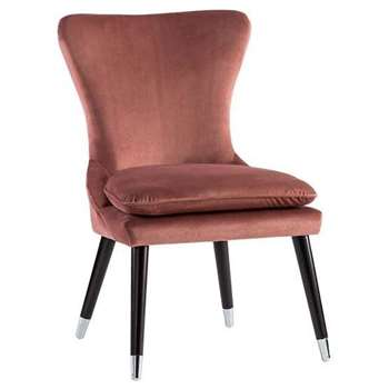 Tanja Dining Chair Blush Pink (H92 x W58 x D60cm)