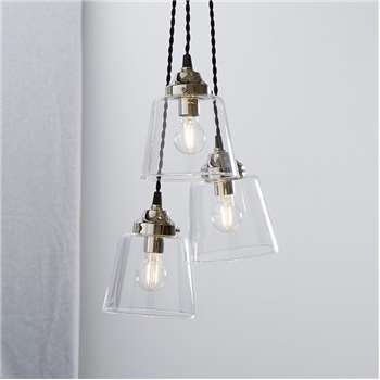 Tapered Glass Cluster Ceiling Light (H100 x W28 x D28cm)