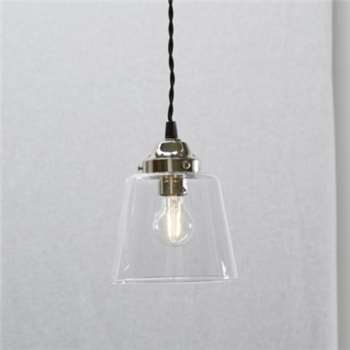 Tapered Glass Pendant - Small - Clear