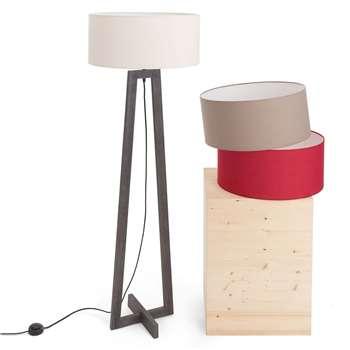 Tarouca Customisable Floor Lamp, Your Choice Of Shade With Dark Brown Base 153 x 48cm