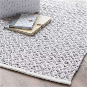 TAVIRA cotton rug, grey, (60 x 90cm)