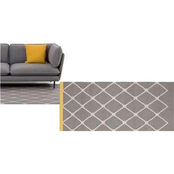 Taza flatweave rug, Mustard (120 x 170cm)
