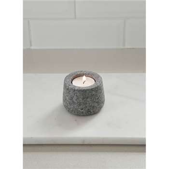 Tealight Holder, Round - Granite (5 x 7.2cm)