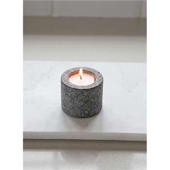 Tealight Holder, Straight - Granite (5 x 6.2cm)