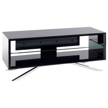 Techlink Arena AA110 TV Stand for TVs up to 55, Piano Black (44.1 x 110cm)