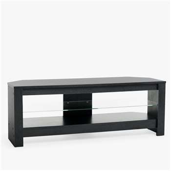 "Techlink Calibre + TV Stand for TVs up to 55"", Black Oak (H17 x W125 x D45cm)"
