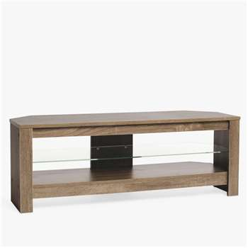 """Techlink Calibre + TV Stand for TVs up to 55"""", Grey Sawn Oak (H17 x W125 x D45cm)"""
