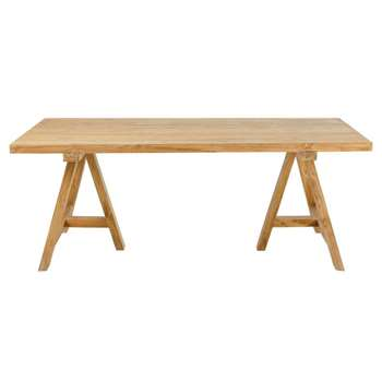 TECKA Recycled Teak 8-Seater Garden Table (H76 x W200 x D100cm)