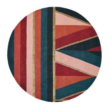 Ted Baker - Sahara Round Rug - Burgundy (Diameter 150cm)