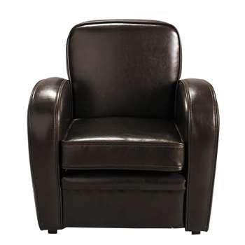 TEDDY Child's club armchair in brown (55 x 53cm)