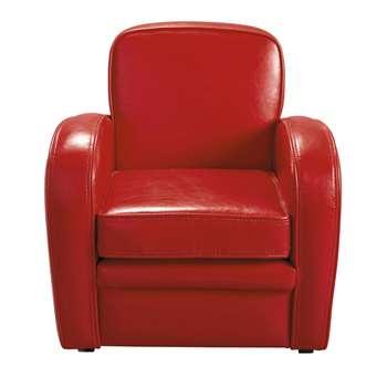 TEDDY Child's club armchair in red (55 x 53cm)