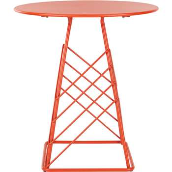 Tega Garden Bistro Table, Red (75 x 75cm)
