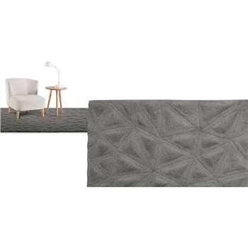 Tekari Large Wool Rug, Slate (160 x 230cm)
