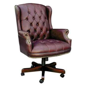 Teknik Office Chapman Leather Faced Traditional Executive Chair - burgundy
