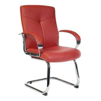 Teknik Office Heston Leather Faced Visitors Chair 105 x 51cm