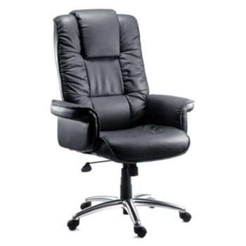 Teknik Office Loman Leather Faced Executive Chair 78 x 53cm