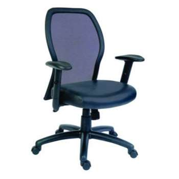 Teknik Office Mizu Mesh and Leather Managers Chair 92-102 x 48cm
