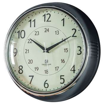 Wall clocks temple clock chrome diameter 28cm gumiabroncs Image collections