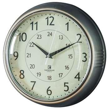 Temple Clock Nickel (Diameter 28cm)