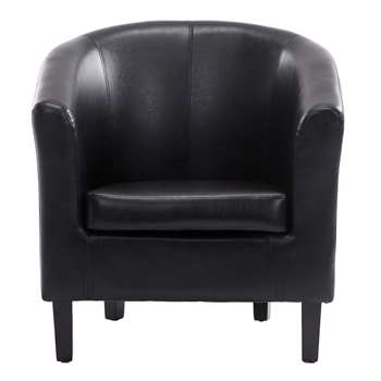 Tempo Tub Chair, Black (72 x 68cm)