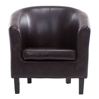 Tempo Tub Chair, Brown (72 x 68cm)