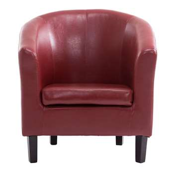 Tempo Tub Chair, Red (72 x 68cm)