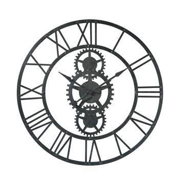 TEMPS MODERNES metal clock in black (100cm Diameter)