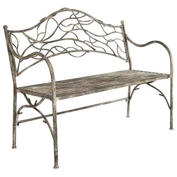 Tendril Metal Garden Bench - Metal (94 x 115cm)