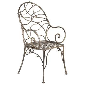 Tendril Metal Garden Chair - Metal (104 x 52cm)
