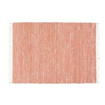 MALIO Terracotta Woven Jute and Cotton Rug (140 x 200cm)